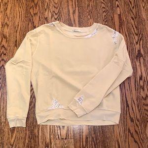 Stateside Lace Vintage Look Sweatshirt